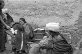 Nomadic Tibetan women gathered in Tibetan Plateau