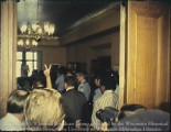 News film clips of Chapman Hall occupation including protester arrests / Clips de noticias de la ocupación de Chapman Hall, incluso los arrestos de los manifestantes