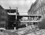 Construction of College and University library in Mellencamp