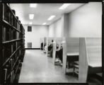 Study carrels in Mellencamp Hall Library
