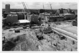 Construction on the campus in 1992