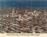 Aerial view of the University of Wisconsin-Milwaukee in the 70s