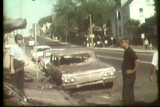 News film clip (partial) of street scene of the Inner Core after July 30, 1967 civil disturbance