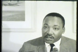 News film clip (partial) of Martin Luther King speaking at UW-Milwaukee, November 23, 1965 [2 of 2]