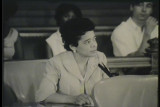 News film clip of Vel Phillips speaking on fair housing legislation, continued, June 13, 1967