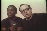 News film clip (partial) of a press conference with Father Groppi and NAACP Youth Council...