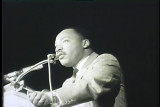News film clip of Martin Luther King speaking at UW-Milwaukee, November 23, 1965 [1 of 2]