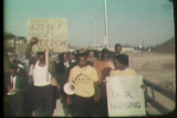 News film clip of a fair housing march in Milwaukee, likely September 2, 1967