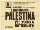 Z. Rabinoviča priekšlasījums p. t. Palestīna pēc 1936. g. notikumiem