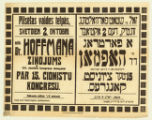 Dr. Hoffmaņa Ziņojums (15. cionistu kongresa delegats) par 15. cionistu kongresu = א פארטראג פון ד''ר האפמאן (דעלעגאט אפן 15 ציוניסט. קאננרעס) 15טער ציוניסט קאנגרעס, A fartrog fun Dr. Hofman (delegat afn 15 tsionist. congres) 15ter Tsionist kongres