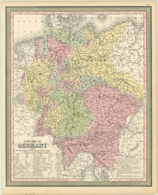 Germany 1850 American Geographical Society Library Digital Map