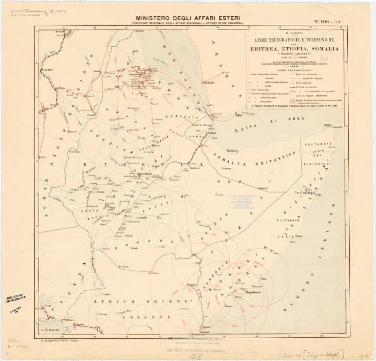 Eritrea, Ethiopia and Somalia 1912 - American Geographical
