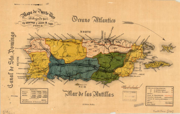 Puerto Rico American Geographical Society Library Digital - Geographical map of puerto rico