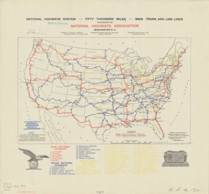 United States 1913 American Geographical Society Library Digital