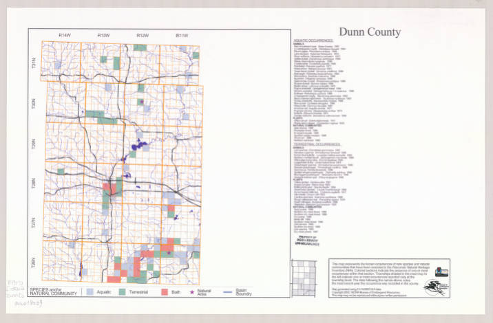 Dunn County Wi Map on