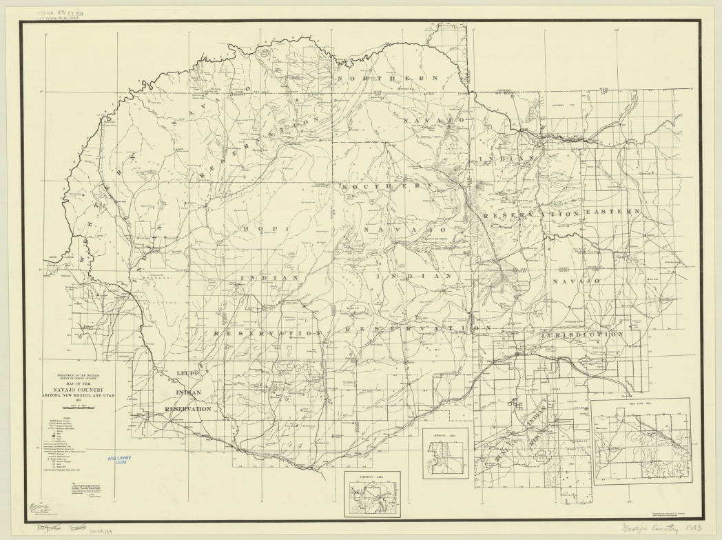 Geographical Map Of Arizona.Arizona New Mexico And Utah 1933 American Geographical Society
