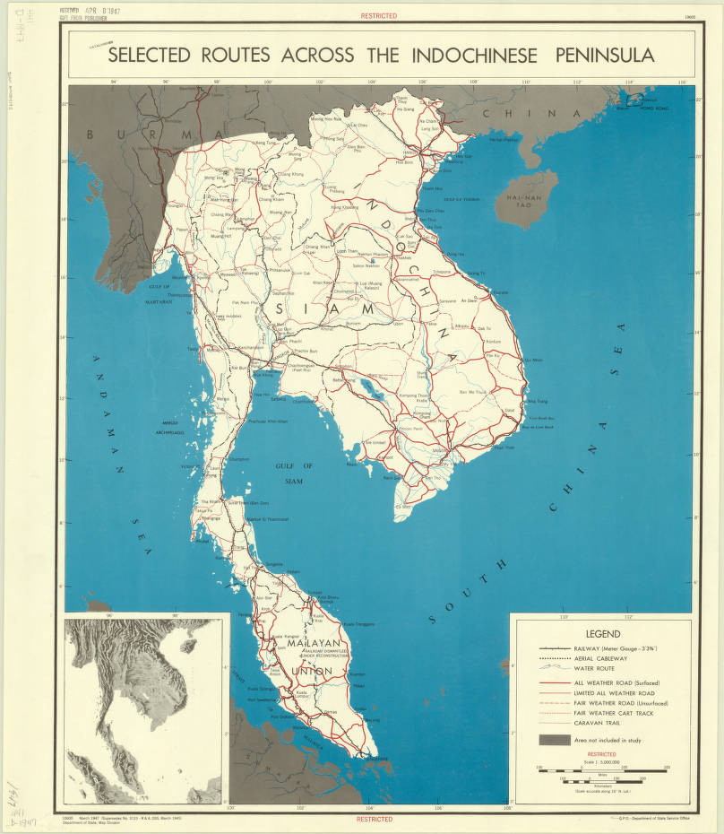 Indochina 1947 - American Geographical Society Library