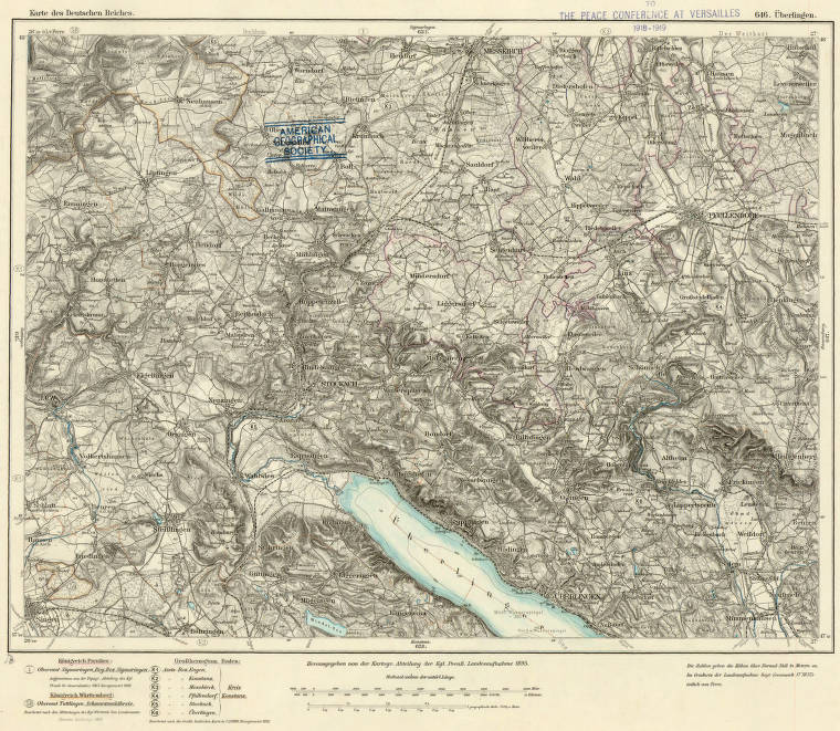Map Of Uberlingen Germany.Uberlingen Germany 1895 American Geographical Society Library