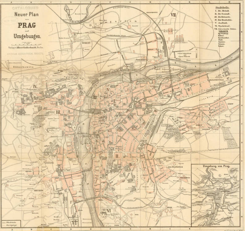Prague, Czech Republic 1882 - American Geographical Society ...