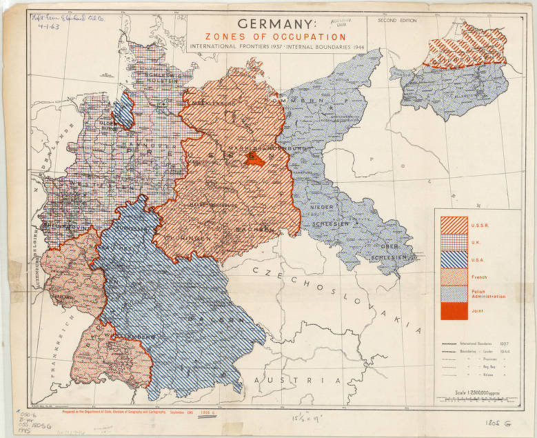 Germany 1945 American Geographical Society Library Digital Map