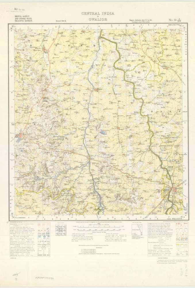 Central India & Gwalior, India 1935 - American Geographical Society on