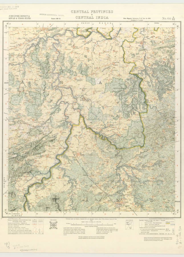 Central Provinces & Central India 1917 - American Geographical ... on