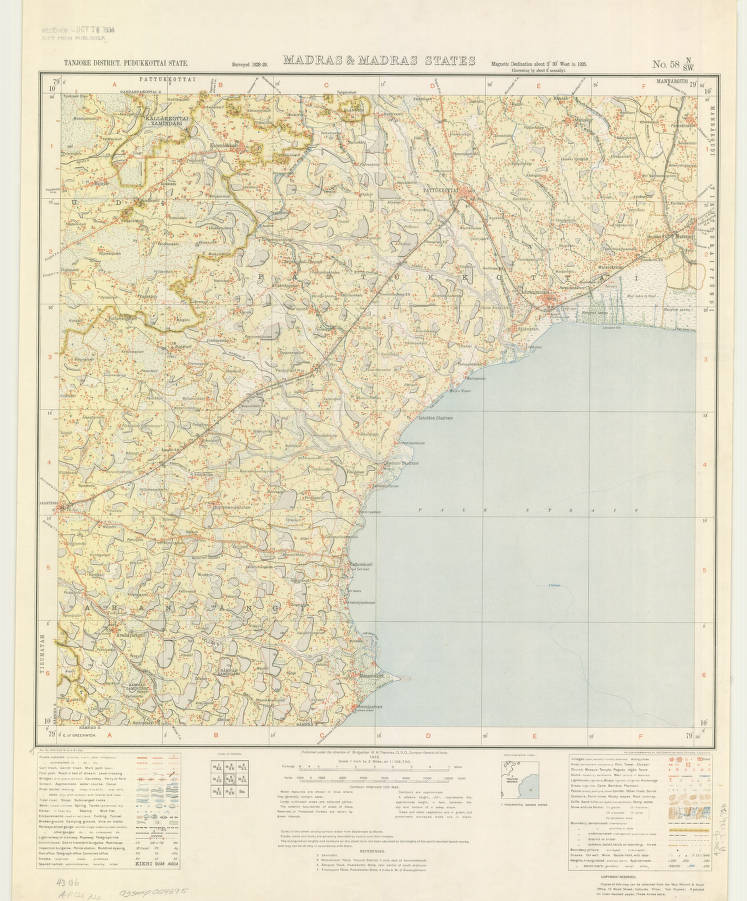Chennai, India 1932 - American Geographical Society Library