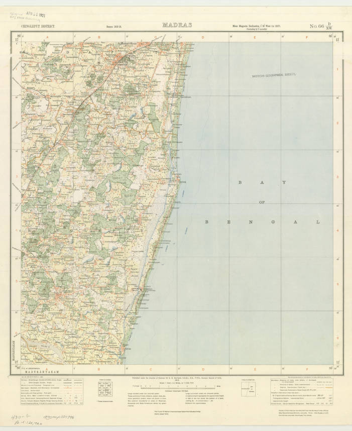 Chennai, India 1919 - American Geographical Society Library Digital