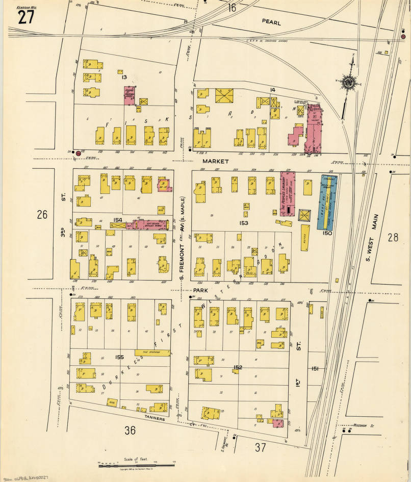 Kenosha Wisconsin Insurance Maps Published By The Sanborn Map