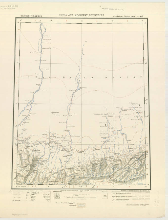 Taklamakan Desert, China 1917 - American Geographical Society ... on