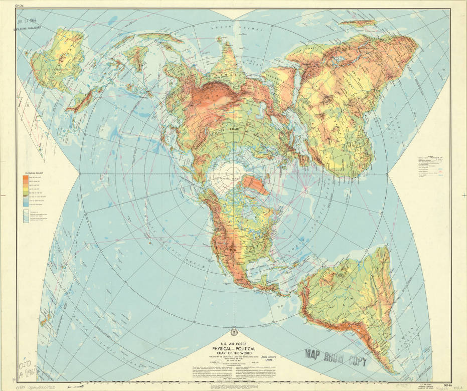World Map 1961 American Geographical Society Library Digital Map