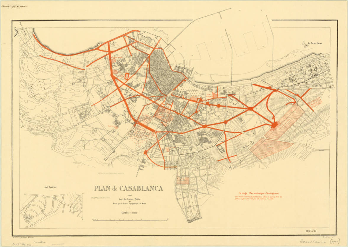 Casablanca, Morocco 1917 - American Geographical Society Liry ... on