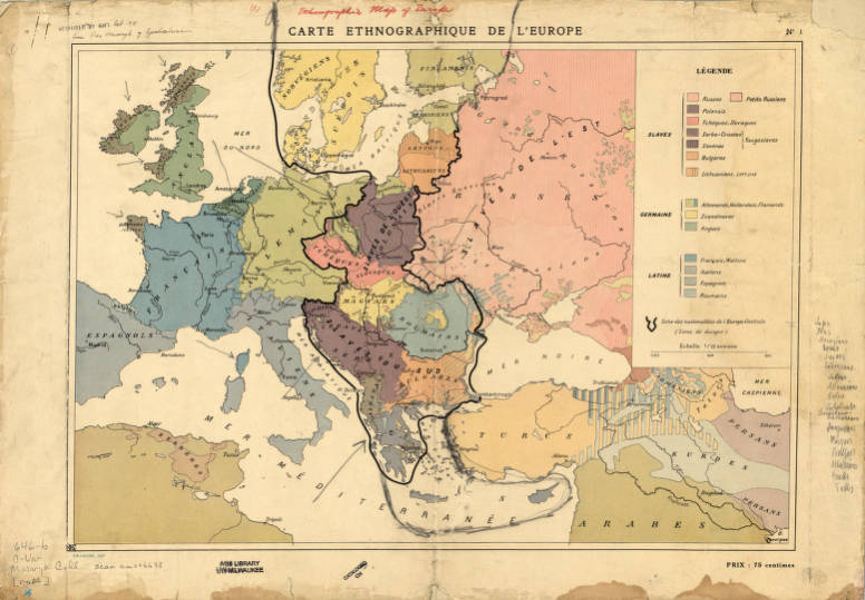 Europe 1918 - American Geographical Society Library Digital Map ...