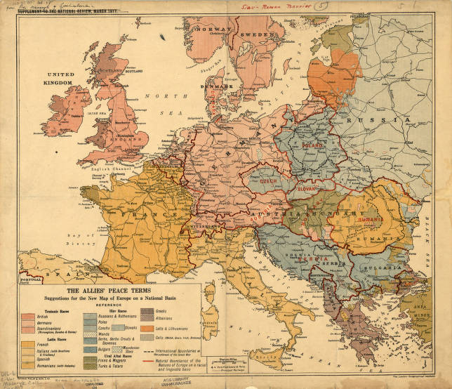 map of europe 1917 Europe 1917   American Geographical Society Library Digital Map