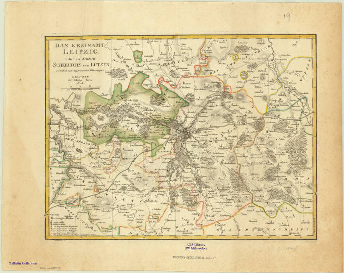 Leipzig Germany 1812 American Geographical Society Library Digital Map Collection Uwm Libraries Digital Collections