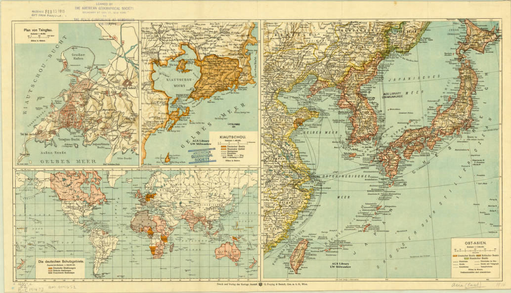 Map Of Asia 1914.East Asia 1914 American Geographical Society Library Digital Map