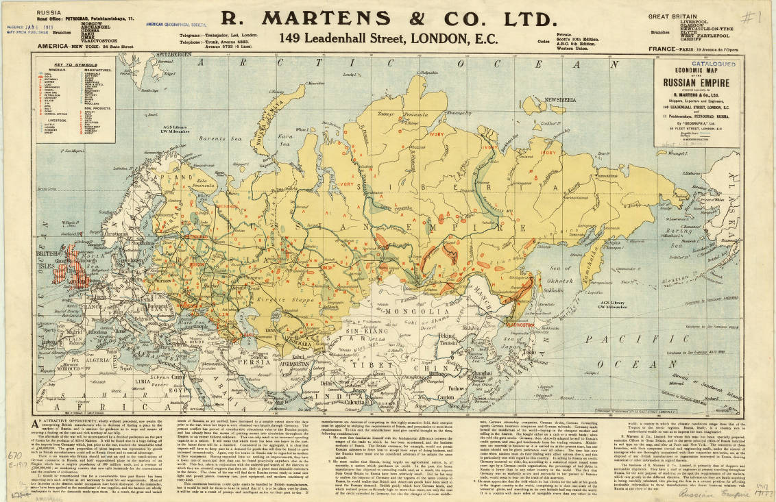 Russia Map 1917.Russia 1917 American Geographical Society Library Digital Map