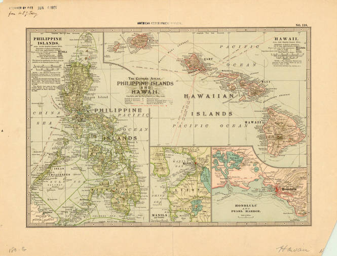 Map Of America Including Hawaii.Philippine Islands And Hawaii 1898 American Geographical Society
