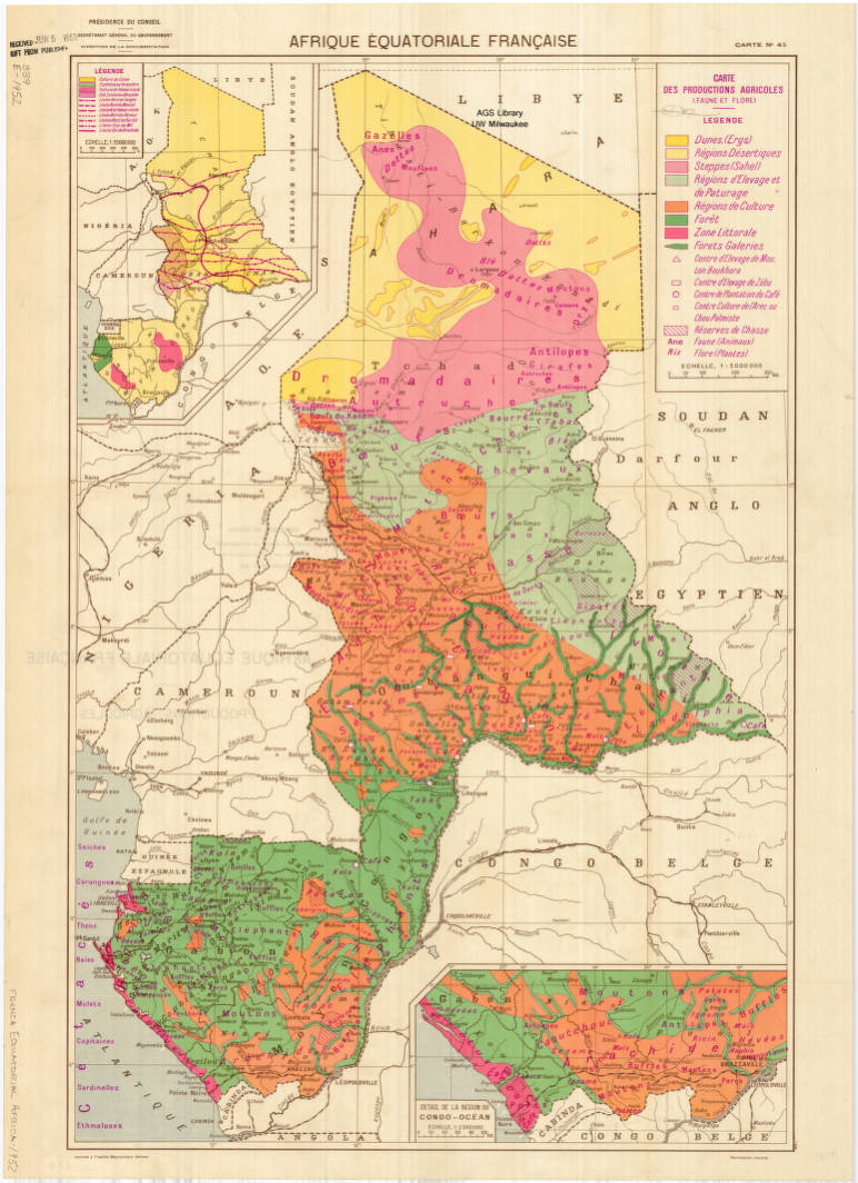 Map Of Africa 1950.French Speaking Equatorial Africa 1950 American Geographical