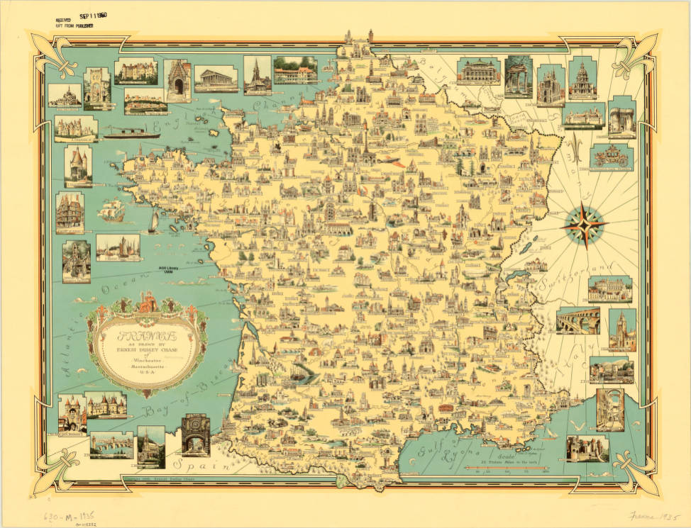 Geographical Map Of France.France 1935 American Geographical Society Library Digital Map