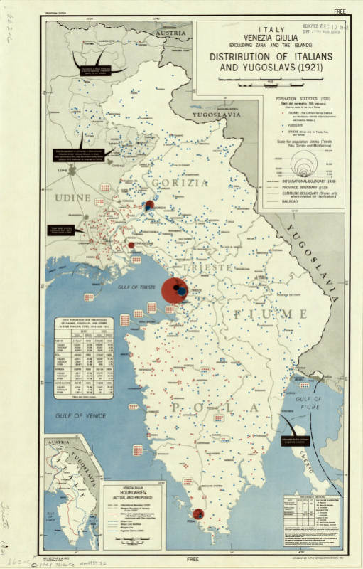 Show A Map Of Italy.Friuli Venezia Giulia Italy 1921 1945 American Geographical