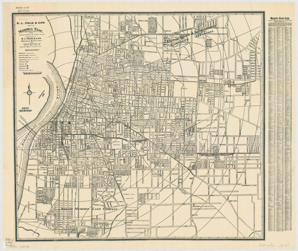Memphis, Tennessee 1915 - American Geographical Society ...
