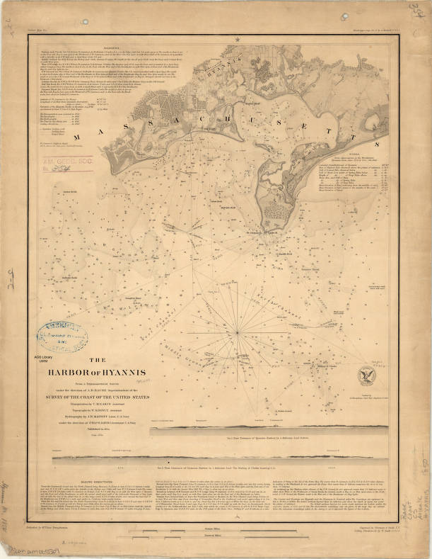Hyannis Harbor Massachusetts 1850 American Geographical Society