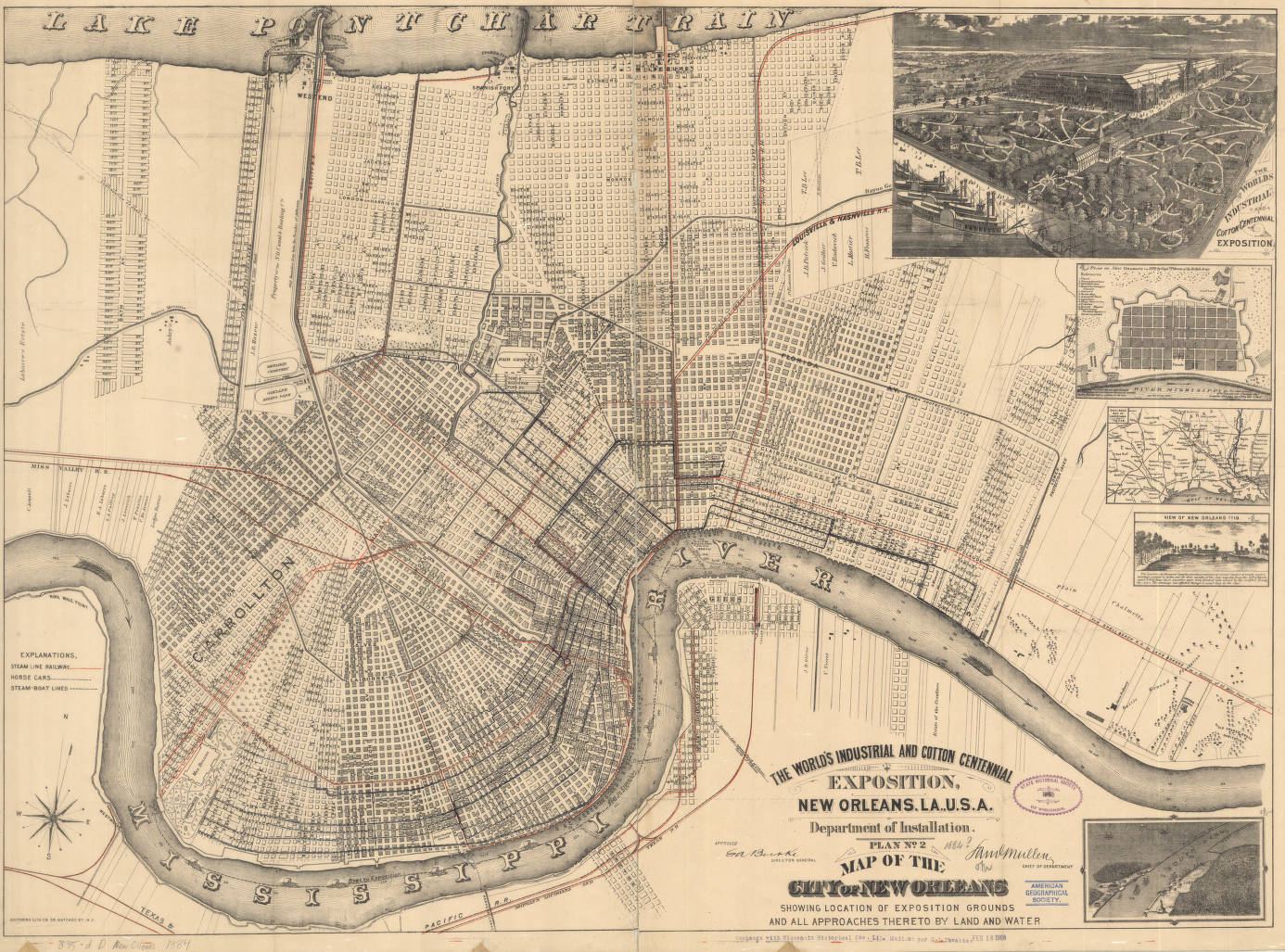 New Orleans (Louisiana) 1884, exposition grounds - American ... on