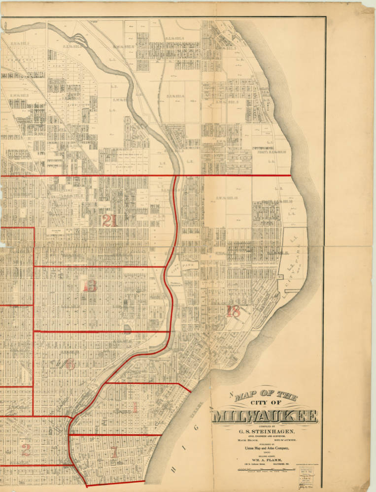 Sheet American Geographical Society Library Digital Map - City map of wisconsin