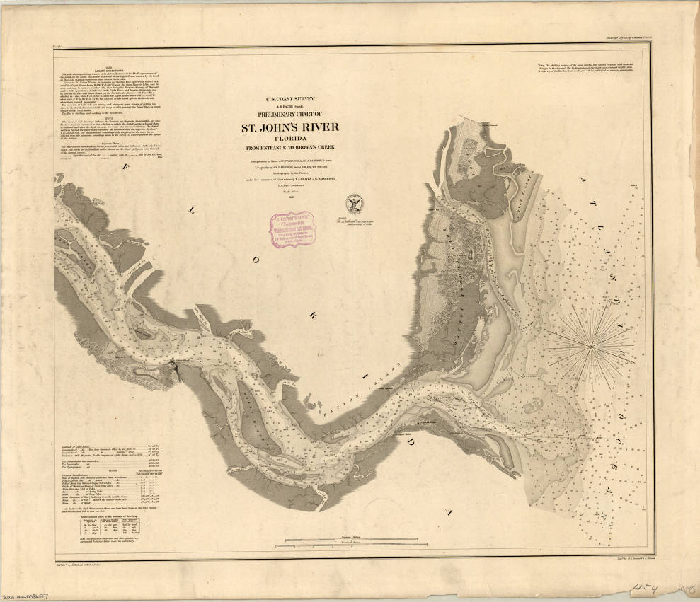 St. John's River, Florida 1856 - American Geographical ... on saint augustine river map, potomac river map, vicksburg river map, st. lawrence river on us map, saint joe river map, saint lawrence river map, oregon river map, south branch river map, saint clair river map, st. mary river florida on map, elizabeth river map, salem river map, saint francis river map, united states river map, lower john day river map, susquehanna river map, st. louis river map, ice in st. clair river map, ohio river map, saint john's florida map,