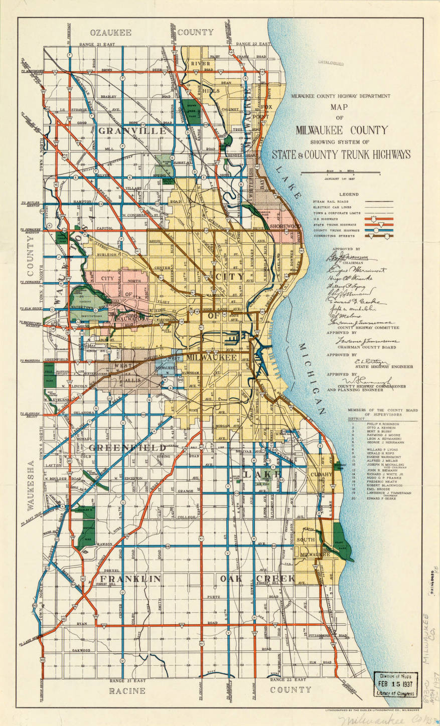 Milwaukee County, Wisconsin 1937 - American Geographical Society ...