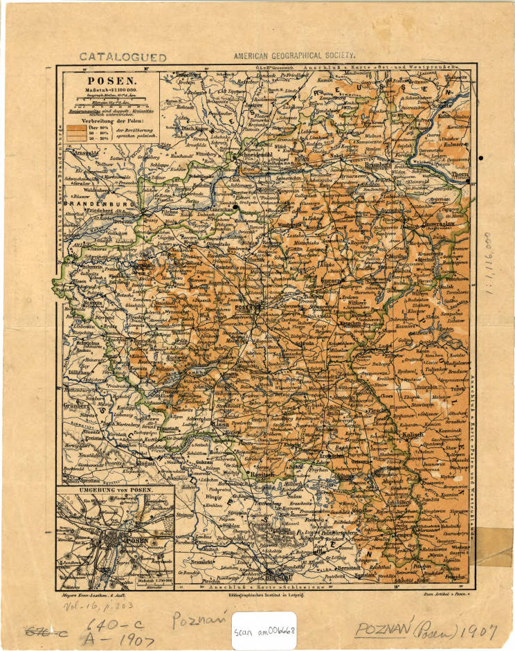 Poznan Poland 1890 American Geographical Society Library Digital