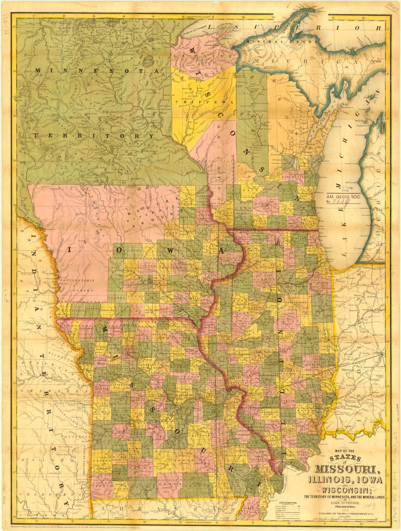 Missouri, Illinois, Iowa, Wisconsin and Minnesota Territory ... on map of illinois cities, map of west virginia and tennessee, map of iowa freedom rock in the tour, map of iowa small towns, iowa state map illinois, map of bridges of madison county iowa, map of iowa online, map of quad cities and surrounding area, map of dubuque iowa, map of church camps in illinois, big map of illinois, map of iowa casinos, street map clinton illinois, map of quincy illinois, map of iowa print, map of missouri, map of the state of iowa, oakland city hall illinois, map of minnesota iowa border, map of iowa counties,