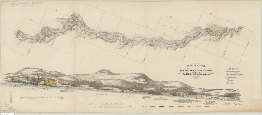 Des Moines, Iowa 1852 - American Geographical Society Library ...